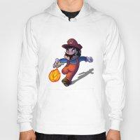 mario Hoodies featuring Mario by DROIDMONKEY