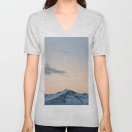 My Dear Friend Moon - Landscape and Nature Photography Unisex V-Neck