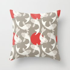 Koi fish pattern 002 Throw Pillow