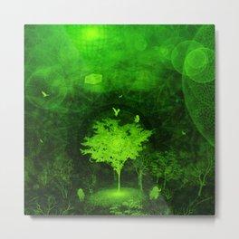 Flow. (Green Version) Metal Print