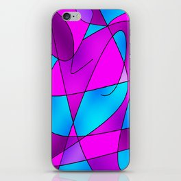 ABSTRACT CURVES #2 (Purples, Violets, Fuchsias & Turquoises) iPhone Skin
