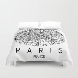 Paris Round Duvet Cover
