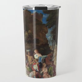 The Feast of the Gods Painting by Giovanni Bellini and Titian Travel Mug