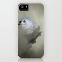 Little Tufted Titmouse iPhone Case