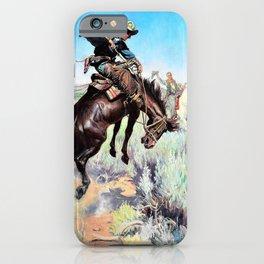 Busting a Broncho - William Herbert Dunton iPhone Case