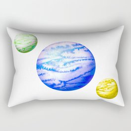 Illustration of watercolor round planet Rectangular Pillow