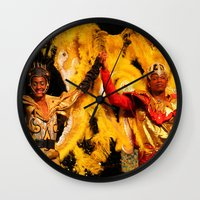 carnival Wall Clocks featuring Carnival by Trevor Jolley