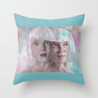 sia Throw Pillows featuring Sia - Maddie by firatbilal
