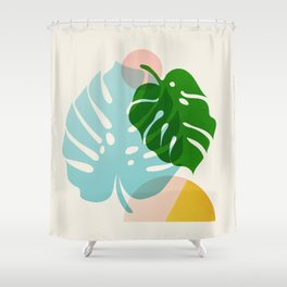 Abstraction_PLANTS_01 Shower Curtain