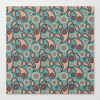 paisley Canvas Prints featuring Paisley by Lisi Fkz