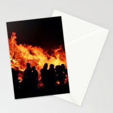 Bonfire burning Stationery Cards