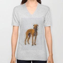 Greyhound Art Unisex V-Neck
