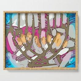 Hanukkah menorah light Serving Tray