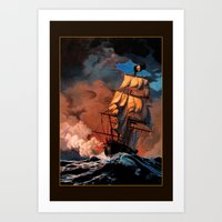 pirate ship Art Prints featuring Pirate Ship by Whelan Galleries