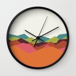 Chevron Mountain Wall Clock