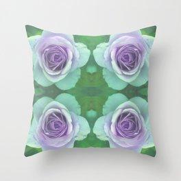bed of roses: underwater rose quartet Throw Pillow