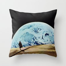 Moon walking Throw Pillow