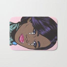 Crying Pastel African American Woman Bath Mat