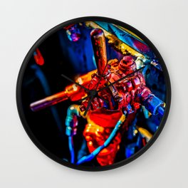 Joystick Of The Steam Age. Colorful Metal Gear Wall Clock