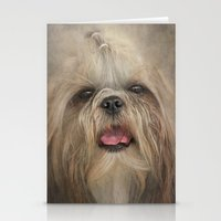 shih tzu Stationery Cards featuring Shih Tzu by Pauline Fowler ( Polly470 )