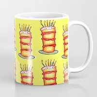 cake Mugs featuring Cake! by Claire Pope