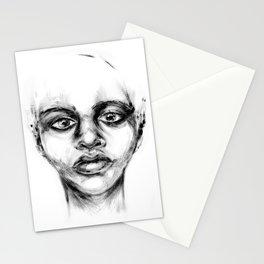 Woman | Female | Portrait  | Artwork | Beautiful | Emotions | Minimal | Art Print Stationery Cards