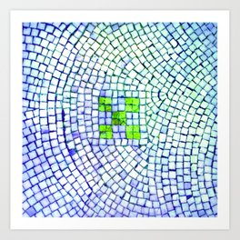 artisan 22.06.16 in lime & shades of blue Art Print
