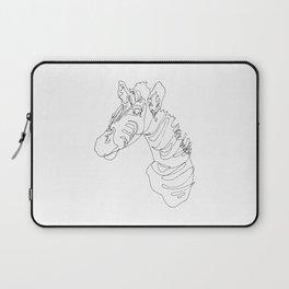 Blind Contour Zebra Laptop Sleeve
