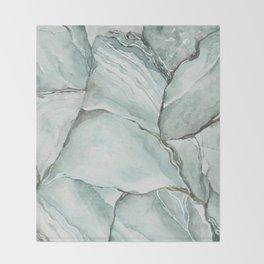 Aquamarine Stone Throw Blanket