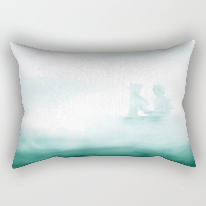 Hidden - Green Mist Rectangular Pillow