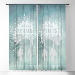 Your Vibe Attracts Your Tribe - Starry Forest Night Sheer Curtain