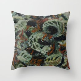 Cannabis, smoke flowers, sativa Throw Pillow