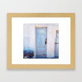 BLUEDOOR Framed Art Print