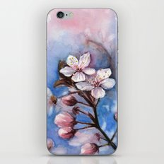 Cherry Blossoms Watercolor Spring Flowers iPhone & iPod Skin