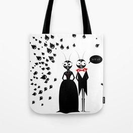 Mr.&Mrs. Black Tote Bag