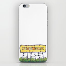 Funky yellow architectural design 51 iPhone Skin
