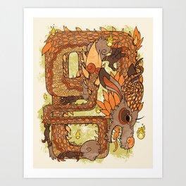 Dinraal, Dragon of Power Art Print