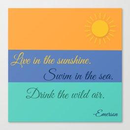 Emerson Knows Summer Canvas Print
