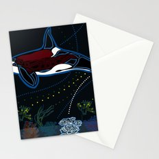 Whale Woman Stationery Cards