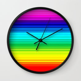 Rainbow love Wall Clock