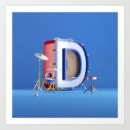 D for drums Art Print