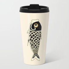 Koi Black Travel Mug