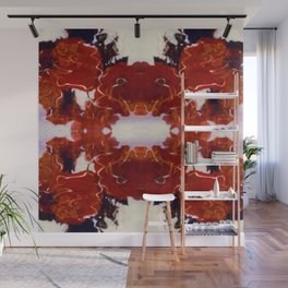 Red Rosie Photographic Pattern Wall Mural