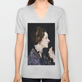 Portrait of a lady, Thea Proctor - George Washington Thomas Lambert Unisex V-Neck