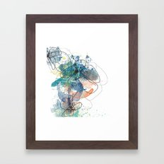 Blue Botanica Framed Art Print
