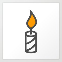 Candle in Design Fashion Modern Style Illustration Art Print