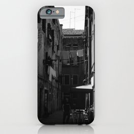 Calle Marcello b&w iPhone Case