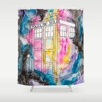 tardis Shower Curtains featuring Tardis  by MichaelaKatrina
