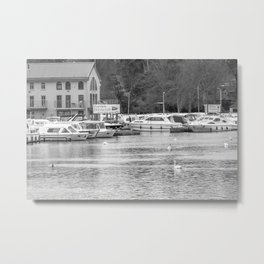 A view down the River Bure in Wroxham, Norfolk Metal Print