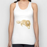golden retriever Tank Tops featuring Golden Retriever by Bark Point Studio